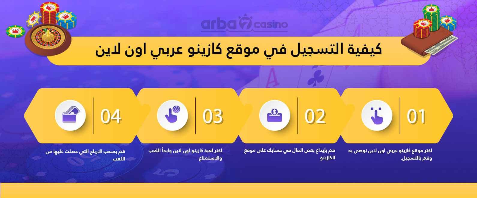 كيفية التسجيل في كازينو عربي